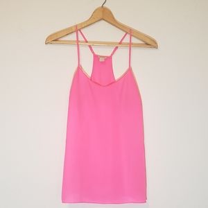 J. Crew Spaghetti Strap Hot Pink Loose Top